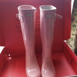 Hunter Boots Tall Pink Sand US 9 Womens
